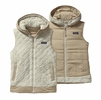 Patagonia Womens Los Gatos Hooded Fleece Vest Bleached Stone Small