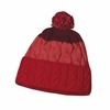 Patagonia Womens Pom Beanie Glacier Stripe: Cochineal Red