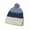 Patagonia Womens Pom Beanie Glacier Stripe: Glass Blue