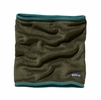 Patagonia Womens Re-Tool Fleece Neck Gaiter Fatigue Green: Urbanist Green X-Dye