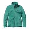 Patagonia Womens Re-Tool Snap-T Fleece Pullover Aqua Stone: Beryl Green X-Dye