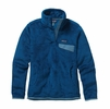 Patagonia Womens Re-Tool Snap-T Fleece Pullover Bandana Blue: Channel Blue X-Dye
