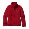 Patagonia Womens Re-Tool Snap-T Fleece Pullover French Red: Classic Red X-Dye
