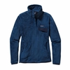Patagonia Womens Re-Tool Snap-T Fleece Pullover Glass Blue: Channel Blue X-Dye