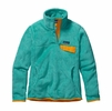 Patagonia Womens Re-Tool Snap-T Fleece Pullover Howling Turquoise: Howling Turquoise X-Dye