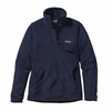 Patagonia Womens Re-Tool Snap-T Fleece Pullover Navy Blue w/ Navy Blue X-Dye
