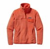 Patagonia Womens Re-Tool Snap-T Fleece Pullover Peach Sherbet: Monarch Orange X-Dye