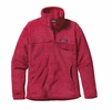 Patagonia Womens Re-Tool Snap-T Fleece Pullover Portofino Pink: Rossi Pink X-Dye