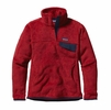 Patagonia Womens Re-Tool Snap-T Fleece Pullover Raspen Red w/ Raspen Red X-Dye