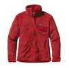 Patagonia Womens Re-Tool Snap-T Pullover Sumac Red: Classic Red X-Dye