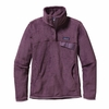 Patagonia Womens Re-Tool Snap-T Fleece Pullover Tyrian Purple: Tyrian Purple X-Dye