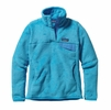 Patagonia Womens Re-Tool Snap-T Fleece Pullover Ultramarine: Electron Blue X-Dye