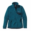Patagonia Womens Re-Tool Snap-T Fleece Pullover Underwater Blue: Crater Blue X-Dye