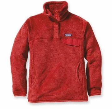 Patagonia Womens Re-Tool Snap-T Pullover Cochineal Red: Wax Red X-Dye