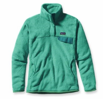 Patagonia Womens Re-Tool Snap-T Pullover Desert Turquoise: Tobago Blue X-Dye