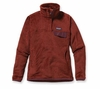 Patagonia Womens Re-Tool Snap-T Pullover Rusted Iron: Dark Currant X-Dye