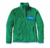 Patagonia Womens Re-Tool Snap-T Pullover Tumble Green: Malachite Green X-Dye