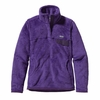 Patagonia Womens Re-Tool Snap-T Pullover Violetti: Tempest Purple X-Dye