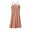 Patagonia Womens Spright Dress Square Dance: Peach Sherbet