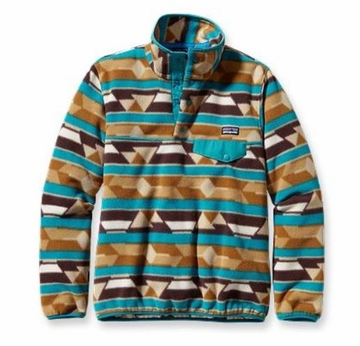 Patagonia Womens Synchilla Lightweight Snap-T Fleece Pullover Guatemalan Tango: Bear Brown
