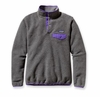 Patagonia Womens Synchilla Lightweight Snap-T Fleece Pullover Nickel w/ Violetti (Autumn 2014)