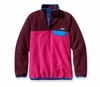 Patagonia Womens Synchilla Lightweight Snap-T Fleece Pullover Radiant Magenta w/ Dark Currant