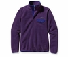 Patagonia Womens Synchilla Lightweight Snap-T Fleece Pullover Tempest Purple
