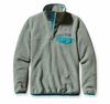 Patagonia Womens Synchilla Lightweight Snap-T Fleece Pullover Verdigris