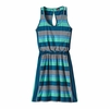 Patagonia Womens West Ashley Dress Fitz Stripe Micro: Navy Blue
