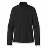 Patgaonia Mens Capilene 2 Lightweight Zip Neck Black