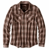 Prana Mens Asylum Flannel Shirt Brown
