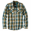 Prana Mens Huntley Flannel Shirt Deep Balsam