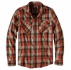 Prana Mens Huntley Flannel Shirt Mud