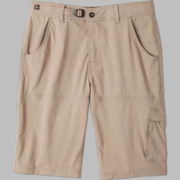 Prana Mens Stretch Zion Short Dark Khaki (Spring 2014)