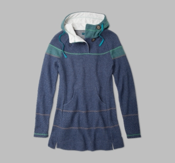 Prana Womens Caitlyn Tunic Sweater Dress Blue (Autumn 2013)