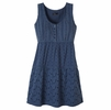 Prana Womens Kendall Dress Blue Ridge Small