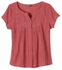 Prana Womens Lucie Top Red Slate