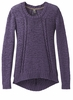 Prana Womens Monique Sweater Purple Mountain