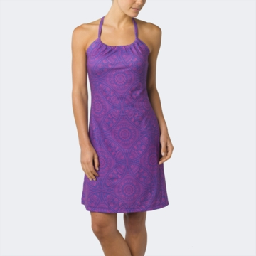 Prana Womens Quinn Dress Sail Blue Mayan