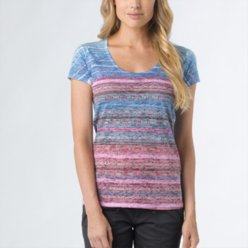 Prana Womens Ribbon Tee Dewberry