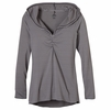 Prana Womens Perry Stripe Pullover Coal