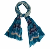 Prana Womens Tassle Scarf Cast Blue