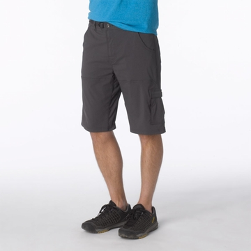 Prana Mens Stretch Zion Short Charcoal (Close Out)