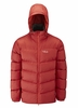 Rab Mens Ascent Jacket Rust/ Koi Large