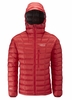 Rab Mens Continuum Hoodie Red/ Zinc Medium