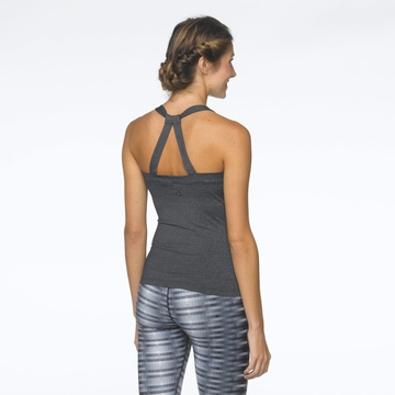 Prana Womens Lightweight Chakara Top Charcoal Heather