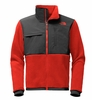 The North Face Mens Denali 2 Jacket Recycled Cardinal Red/ Asphalt Grey (Close Out)