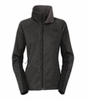 The North Face Womens Arcata Full Zip Jacket Dark Grey Heather/ TNF Black (Close Out)