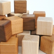 Little Sapling Toys Wood Blocks - Maple, Cherry, and Walnut (27 pieces)