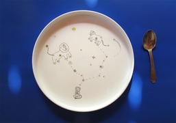 Smiling Planet BPA-Free Plate - Lion Constellations